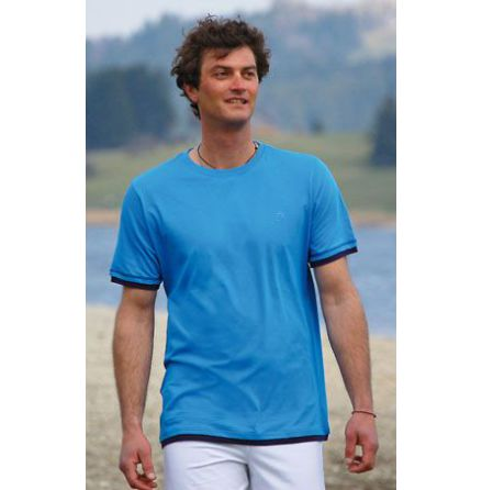 T-shirt i bomull blå