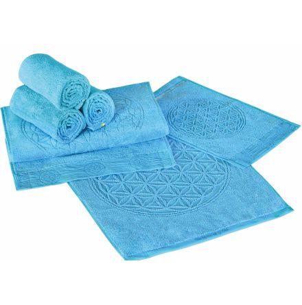 Badhandduk stor blå