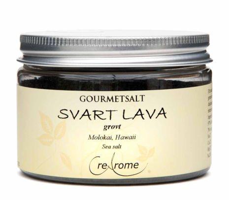 Havssalt Svart lava grovt - Gourmet