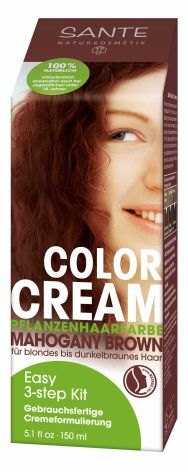 Color cream mahogany brown