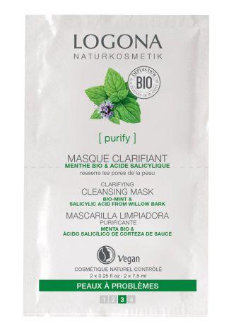 Rengörande mask för aknehud - mint & naturlig salicylsyra