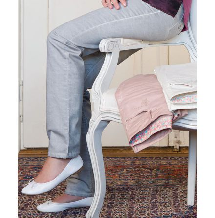 Jeans silvergrå