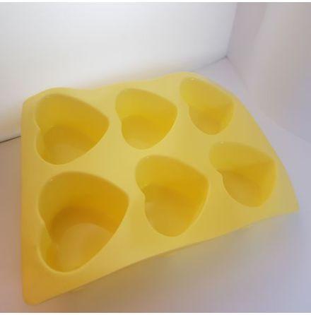 Tvålform silikon hjärtan