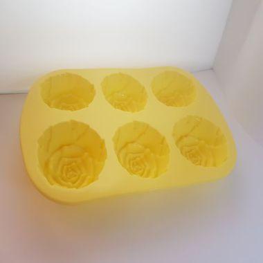 Tvålform silikon Rosor