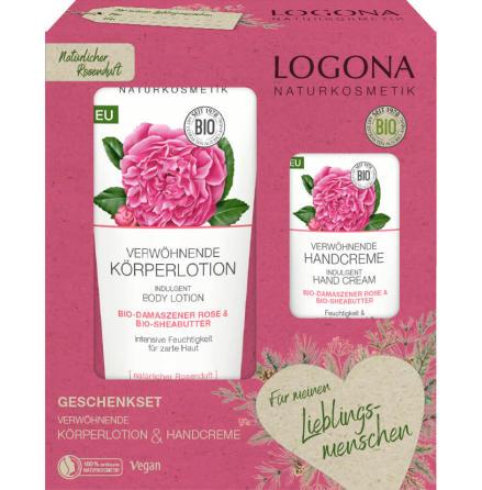 Bodylotion & handkräm i ett med ekologiska rosor/sheasmör