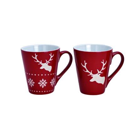 Mugg Christmas Dear röd