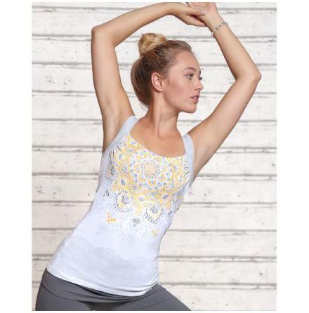 Yoga Top Chakra White/Silver/Sun
