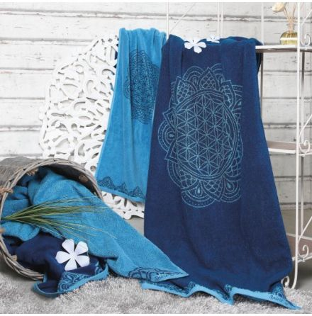 Badhandduk stor Ocean blue/Azure