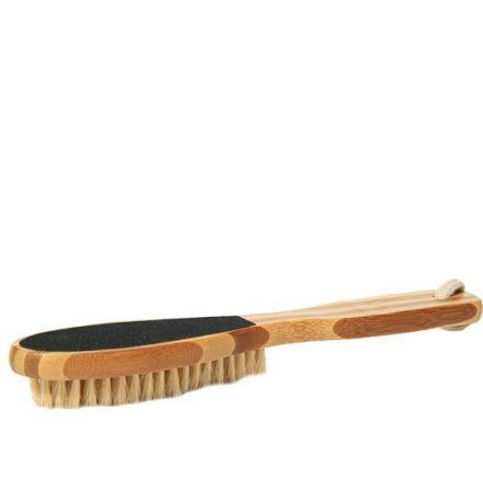 Fotfil Bambu med borste